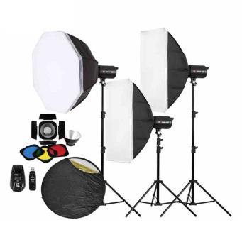 金贝摄影灯SPARKII-400W*3闪灯套装 适合服装人像静物摄影棚