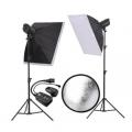 金贝摄影灯SPARKII-400W*2闪灯套装 适合服装人像静物摄影棚