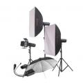 金贝摄影灯DPE-600W 三闪灯套装 适合服装人像静物摄影棚