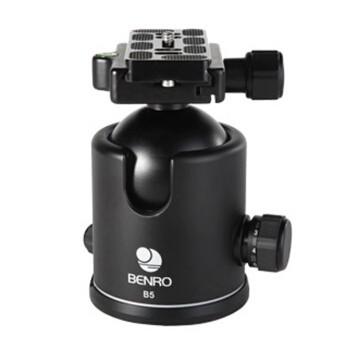 百诺/Benro  B5单反相机微距摄影摄像三脚架独脚架球形云台  行货机打发票 可开具增值税专用发票