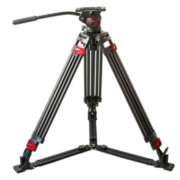 米泊/miliboo MTT609A摄像机三脚架 专业摄影支架相机单反三角架带液压云台套装