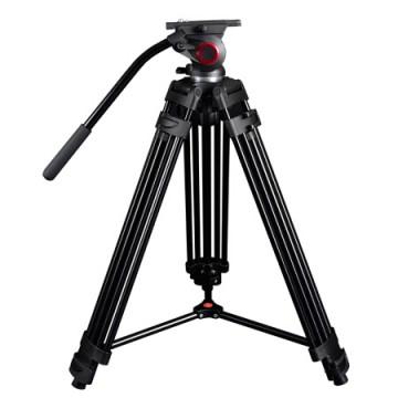 米泊/miliboo MTT601A摄像机三脚架打鸟单反三角架 摄影相机架 带液压云台套装