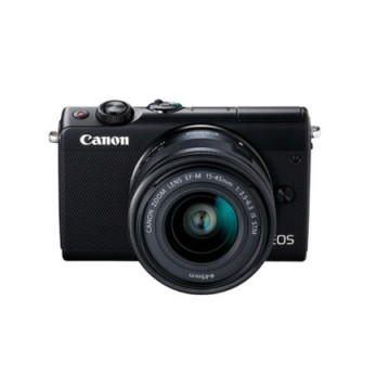 佳能/Canon EOS M100 微型单电套机 黑色(EF-M 15-45mm f/3.5-6.3 IS STM 镜头)