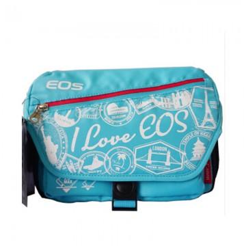 佳能/Canon  单反相机包 适用EOS 80D70D760D750D单肩摄影包 挎包 浅蓝色