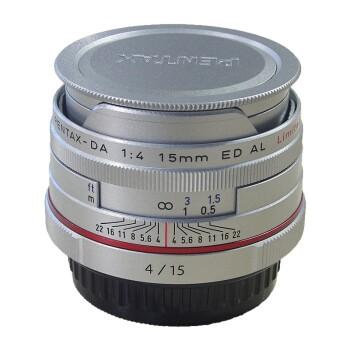 宾得(PENTAX)DA系列定焦镜头 饼干头 HD DA15mm F4 银色