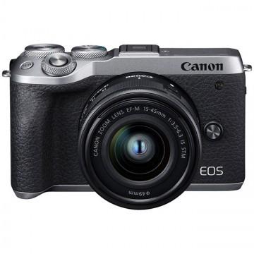 佳能/Canon EOS M6II 套机(15-45mm)微单相机套机 (黑色/银色) M62 6II M6markII