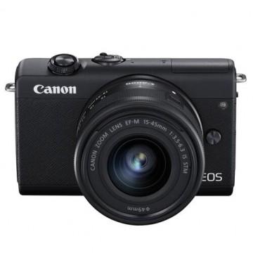 佳能/Canon EOS M200 微单套机 黑色(EF-M 15-45mm 镜头)
