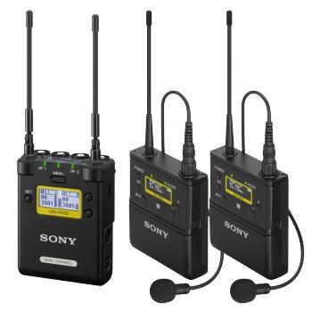 索尼/SONY  小蜜蜂 直播设备 领夹式无线麦克风话筒 一拖二套装(P03D+2个发射器)