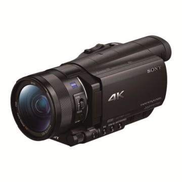 索尼/SONY FDR-AX100E 4K高清数码摄像机 1英寸CMOS 光学防抖 12倍光学变焦 蔡司镜头 支持WIFI/NFC传输
